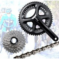 Cassettes, Chainrings, Chains, Cranksets